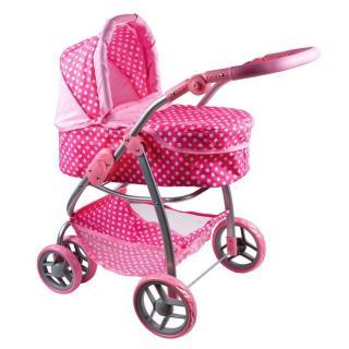 PlayTo Multifunkčný kočík pre bábiky Jasmínka svetlo ružový