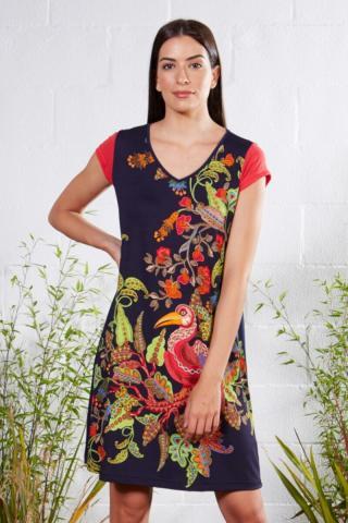 Plážové šaty Lady Belty 21V-1040V-72 - barva:BELUNICO/potisk, velikost:XXL dámské XXL