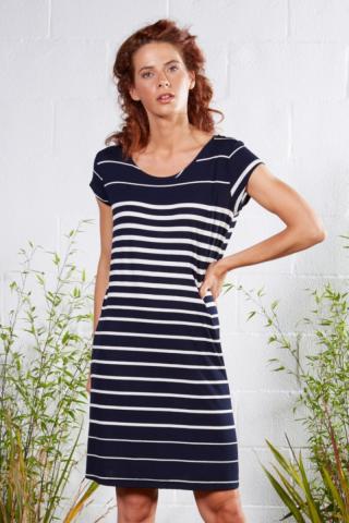 Plážové šaty Lady Belty 21V-1047Y-75 - barva:BELMAR/námornícka, velikost:XL dámské XL