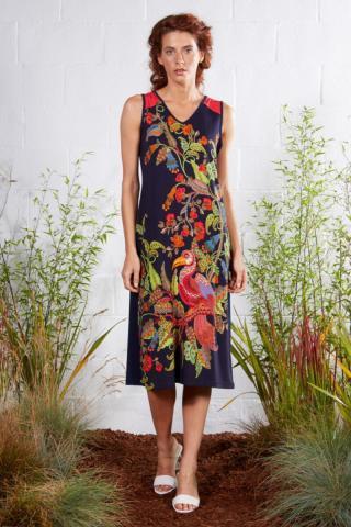 Plážové šaty Lady Belty 21V-1066V-72 - barva:BELUNICO/potisk, velikost:XL dámské XL