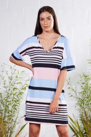 Plážové šaty Lady Belty 21V-1072V-82 - barva:BELUNICO/potisk, velikost:XXL dámské XXL
