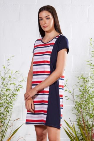 Plážové šaty Lady Belty 21V-1080J-85 - barva:BELUNICO/potisk, velikost:XXL dámské XXL