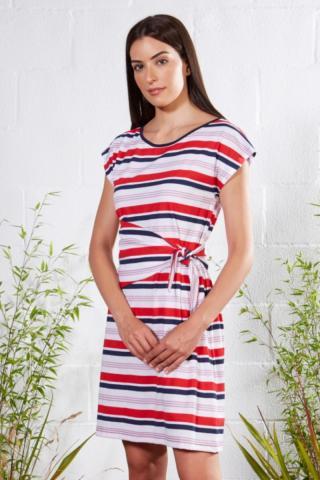 Plážové šaty Lady Belty 21V-1081J-85 - barva:BELUNICO/potisk, velikost:XL dámské XL