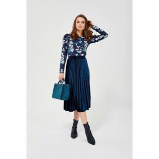 Pleated skirt - sea color dámské Other XL