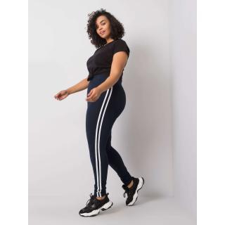 Plus size navy blue leggings Neurčeno XXL