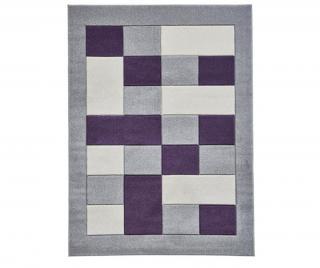 Podstavec na svíčku Matrix Grey Purple 160x220 cm Šedá & Stříbrná 160x220 cm