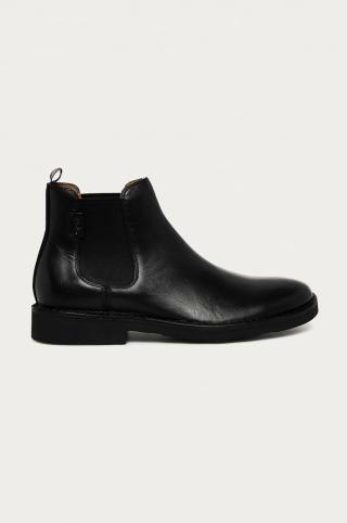 Polo Ralph Lauren - Kožené topánky Chelsea pánské čierna 41
