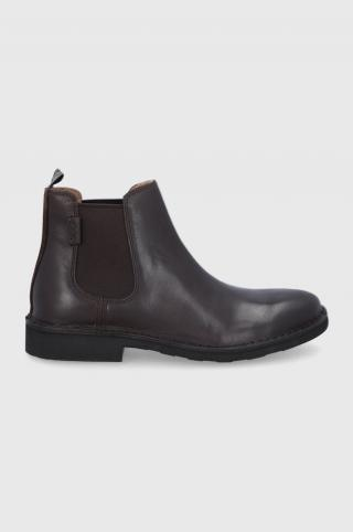 Polo Ralph Lauren - Kožené topánky Chelsea pánské hnedá 44
