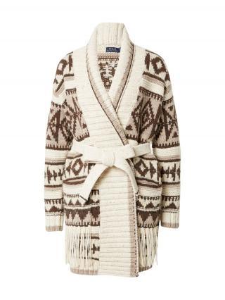 POLO RALPH LAUREN Pletený kabát  béžová / hnedá dámské XS