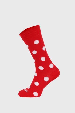 Ponožky Fusakle bodkované červené dámské červená 43-46