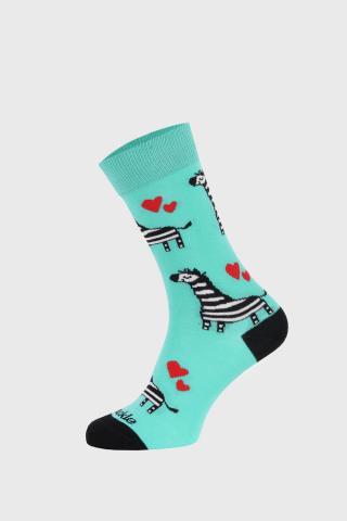 Ponožky Fusakle Zebra dámské tyrkysova 43-46