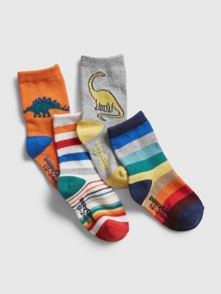 Ponožky GAP, 4 páry Farebná modrá 80-92