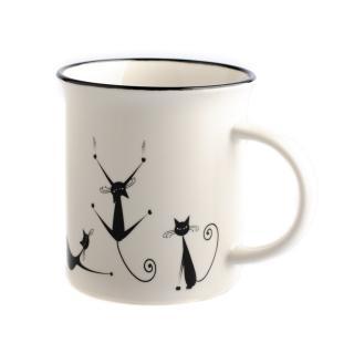 Porcelánový hrnček Hravé mačky 310 ml