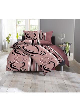 Posteľná bielizeň Casandra ružová 1x 80/80cm, 1x 135/200cm,2x 80/80cm, 2x 135/200cm,1x 80/80cm, 1x 155/220cm