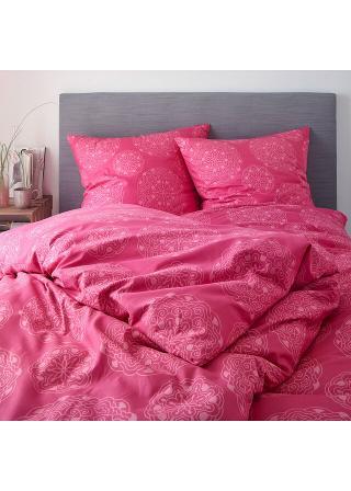Posteľná bielizeň s ornamentmi ružová 1x 80/80cm, 1x 135/200cm,2x80/80cm, 2x 135/200cm,1x 80/80cm, 1x 200/200cm
