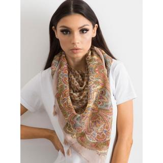 Powder pink scarf with fringes dámské Neurčeno One size