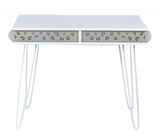 Pracovný stôl Illia Whitish Biela