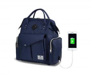 Přebalovací taška USB Barry Dark Blue Modrá