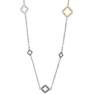 Preciosa Oceľový náhrdelník Grandeur s čírymi kryštálmi 7242Y00