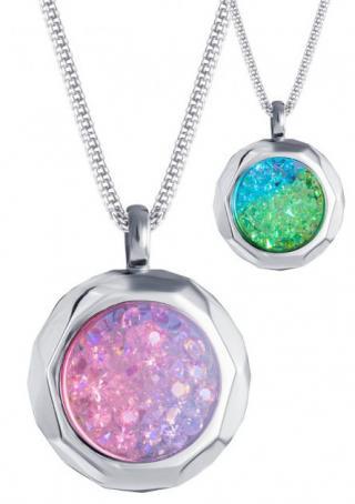 Preciosa Oceľový náhrdelník s kryštálmi Duo Colour 7313 70