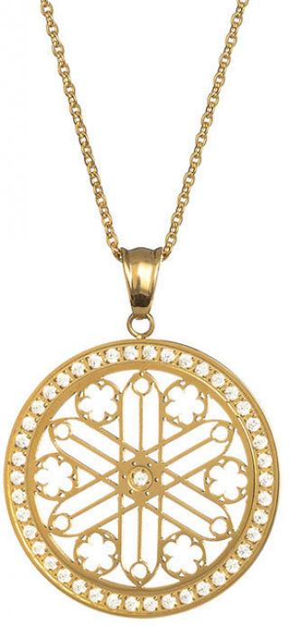 Preciosa Pozlátený náhrdelník s kryštálmi Rosette 7238Y00