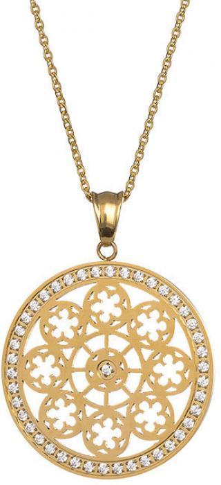 Preciosa Pozlátený náhrdelník s kryštálmi Rosette 7239P00