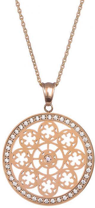 Preciosa Pozlátený náhrdelník s kryštálmi Rosette 7239Y00