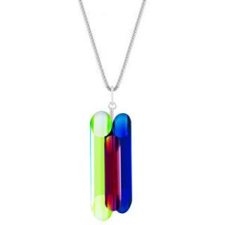 Preciosa Strieborný náhrdelník s kryštálmi Neon Collection by Veronica 6074 70