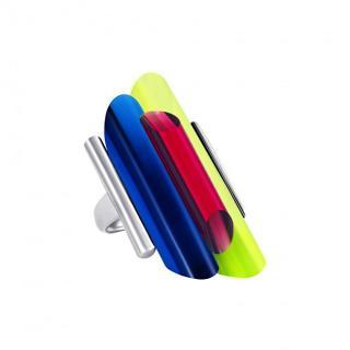 Preciosa Strieborný otvorený prsteň s kryštálmi Neon Collection by Veronica 6076 70