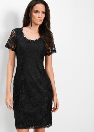 Premium čipkované šaty dámské čierna 36,38,40,42,44,46,48,50,52,54