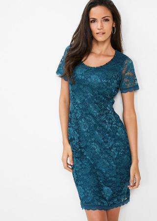 Premium čipkované šaty dámské modrá 36,38,40,42,44,46,48,50,52,54