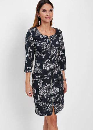 Premium džínsové šaty dámské čierna 36,38,40,42,44,46,48,50,52,54