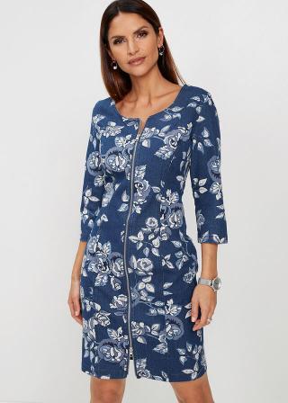 Premium džínsové šaty dámské modrá 36,38,40,42,44,46,50,52,54