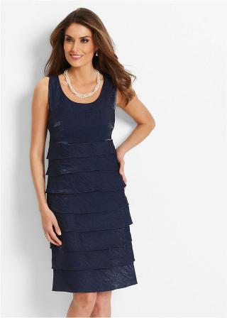 Premium Šaty dámské modrá 36,38,40,42,44,46,48,50,52,54