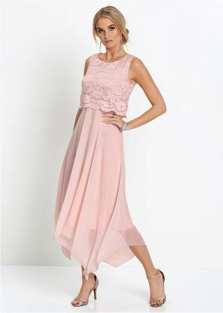 Premium Šaty dámské ružová 36,38,40,42,44,46,48,50,52,54