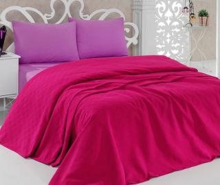 Prikrývka Pique Jessica Fuchsia 200x240 cm Ružová 200x240 cm