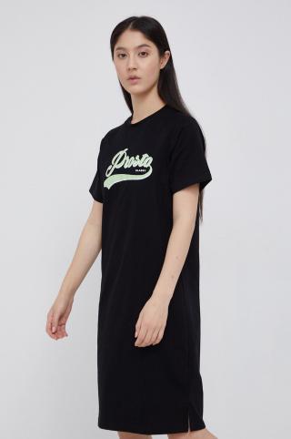 Prosto - Bavlnené šaty dámské čierna XS