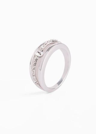 Prsteň so Swarovski® krištáľmi dámské strieborná 16,17,18,19,21,22