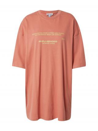 Public Desire Oversize tričko  koralová / zlatá dámské XS