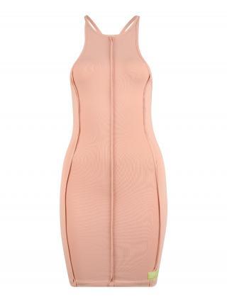 Public Desire Šaty SEAM DE  svetlooranžová dámské 34