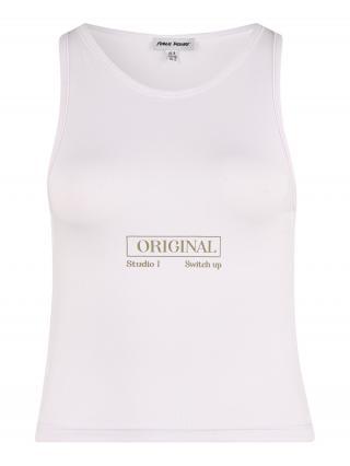 Public Desire Top  biela / brokátová dámské XS