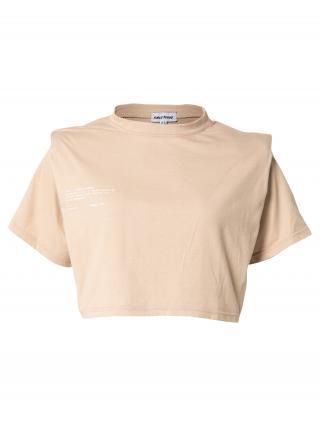 Public Desire Tričko AMBER  svetlohnedá / biela dámské XS