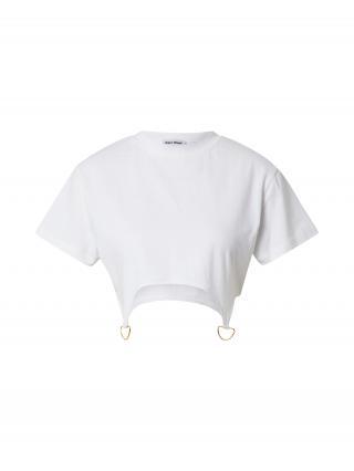 Public Desire Tričko  šedobiela / zlatá dámské M
