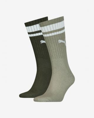 Puma Crew Heritage Stripe Ponožky 2 páry Zelená pánské 43-46