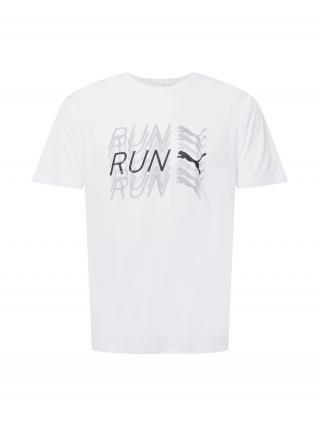 PUMA Funkčné tričko  biela / sivá / čierna pánské S