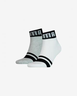 Puma Seasonal Logo Ponožky 2 páry Biela Šedá pánské 43-46