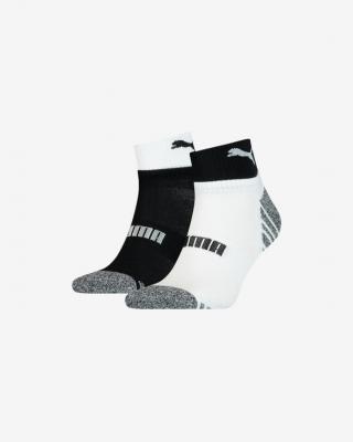 Puma Seasonal Quarter Ponožky 2 páry Čierna Biela pánské 43-46