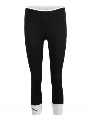 PUMA Športové nohavice  čierna / biela dámské S