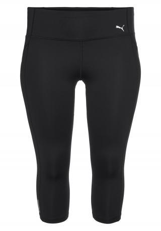 PUMA Športové nohavice  čierna / biela dámské XL