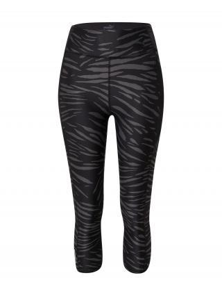PUMA Športové nohavice  čierna / tmavosivá dámské XS